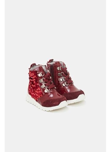 BG Baby Kız Bebek Bordo Ayakkabı Bordo